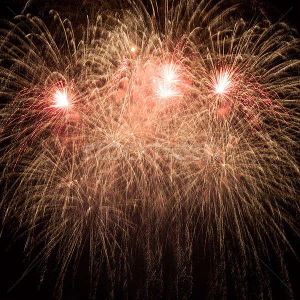 Fogos de artifício céu noturno céu noite preto liberdade Foto stock © All32