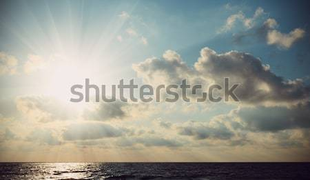 The rays of the sun breaking through clouds Stock photo © All32