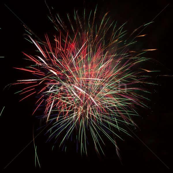 Feux d'artifice ciel de la nuit coloré rouge heureux lumière Photo stock © All32