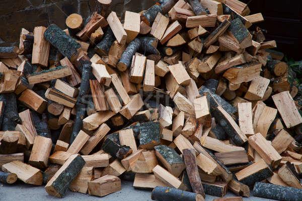 Tűzifa aprított textúra fa erdő háttér Stock fotó © All32