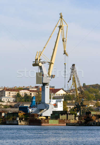 Harbour crane. Stock photo © All32