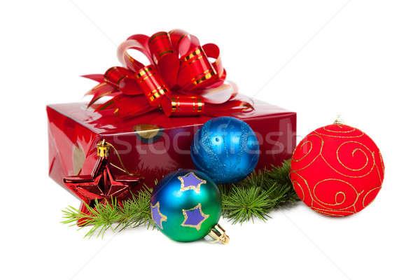 Noël cadeaux isolé blanche anniversaire boîte Photo stock © All32