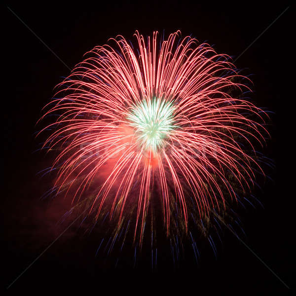 Rosso fuochi d'artificio bella cielo notturno cielo luce Foto d'archivio © All32