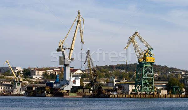 Kikötő üzlet víz tenger fém ipari Stock fotó © All32