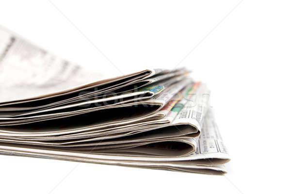 Gazeteler yalıtılmış beyaz haber baskı Stok fotoğraf © All32