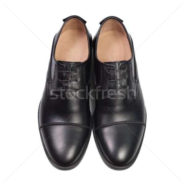Siyah ayakkabı yalıtılmış beyaz ofis adam Stok fotoğraf © All32