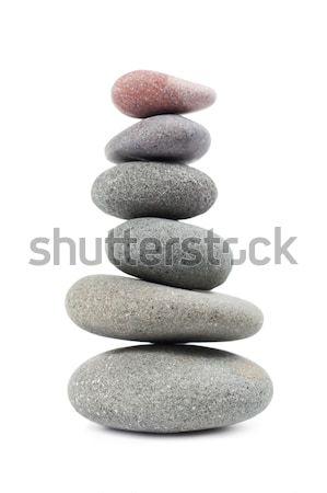 Pyramide cailloux isolé blanche santé Rock Photo stock © All32