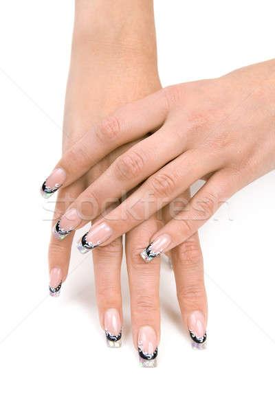 Mãos bom manicure isolado branco mão Foto stock © All32