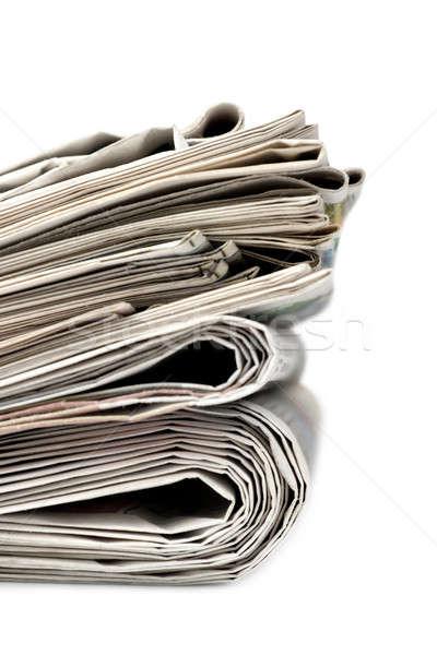 Сток-фото: газет · изолированный · белый · газета · образование