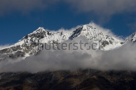 Snowy mountains of Tibet wrapped up the clouds Stock photo © All32