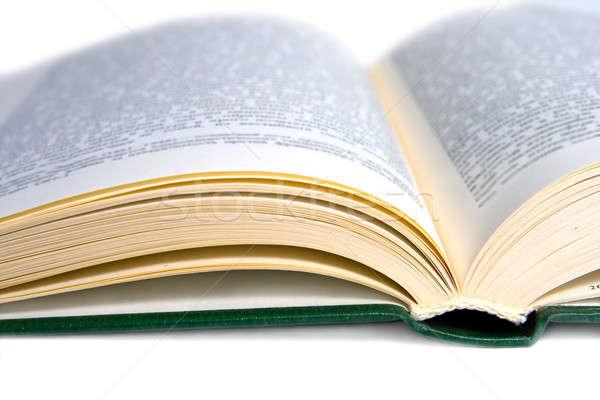 охватывать открытой книгой бизнеса книга школы фон Сток-фото © All32