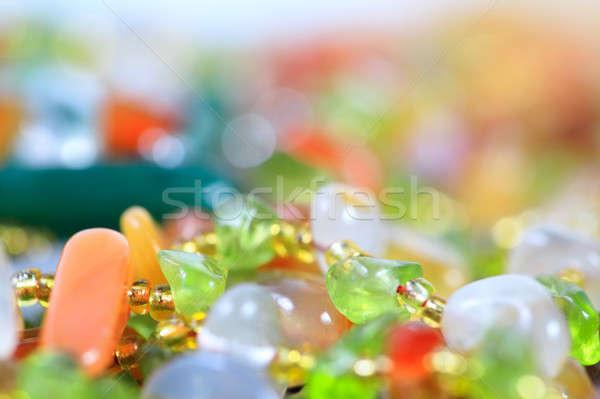 Renkli taşlar takı dizayn taş renk Stok fotoğraf © All32
