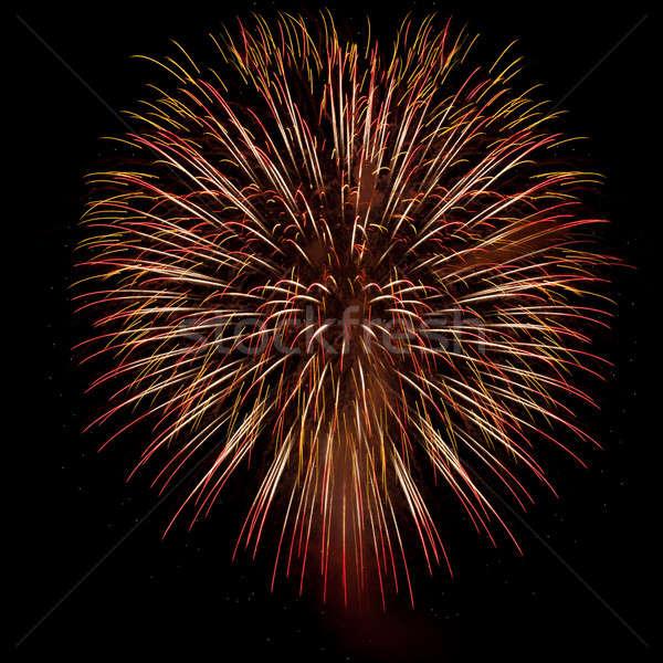 Güzel havai fişek gece gökyüzü parti duman gece Stok fotoğraf © All32