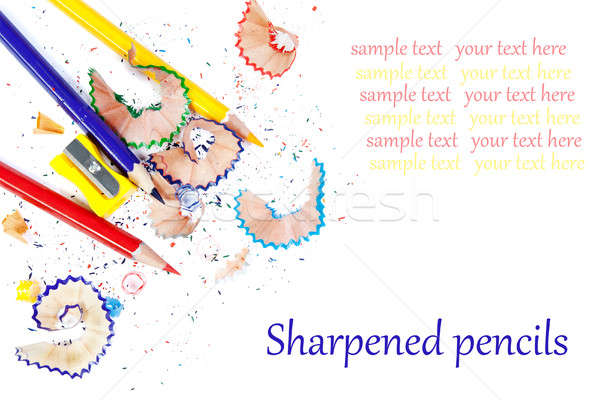 Sharpened colored pencils Stock photo © All32