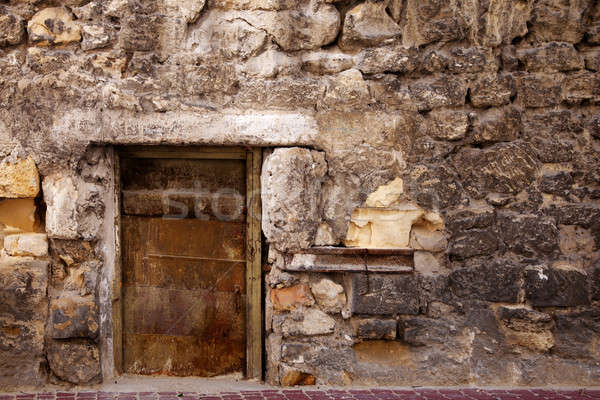 Door in the stone wall. Stock photo © All32