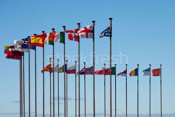 Drapeaux différent pays développement Voyage pavillon Photo stock © All32