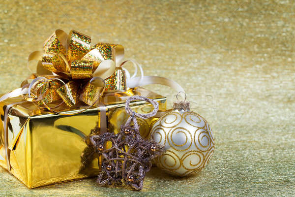 Christmas gifts and decorations Stock photo © All32