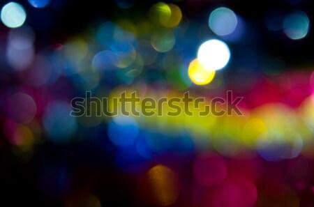 Bokeh stad abstract achtergrond nacht leuk Stockfoto © All32