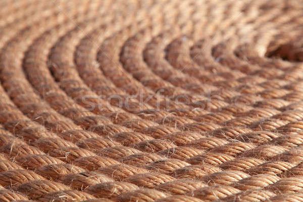 Stockfoto: Touw · gevouwen · kan · gebruikt · textuur