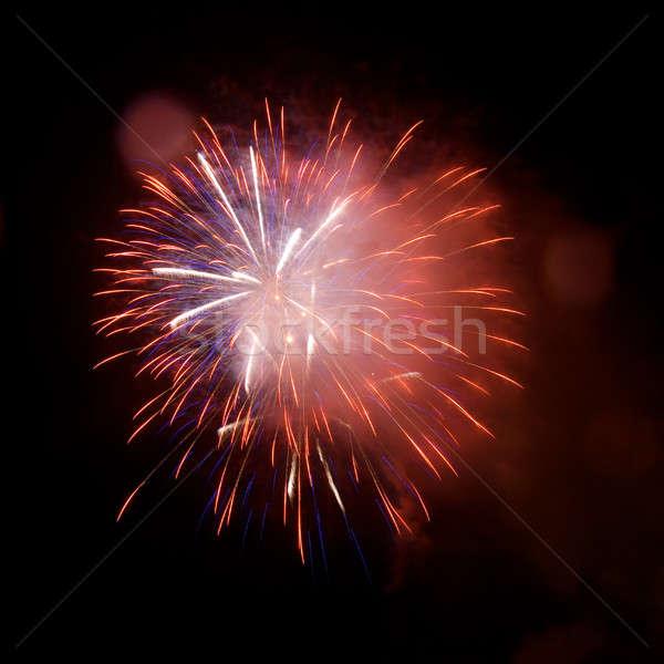 Vuurwerk nachtelijke hemel vuurwerk hemel partij kunst Stockfoto © All32