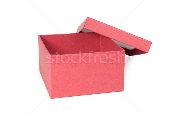 Abrir vermelho caixa isolado branco aniversário Foto stock © All32