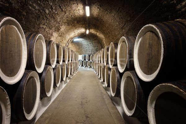Barrels in the wine cellar Stock photo © All32