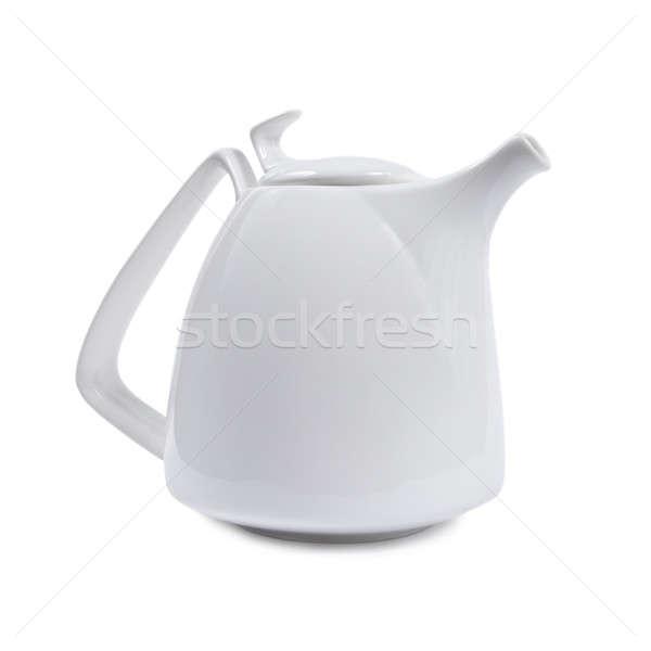 White porcelain teapot. Stock photo © All32