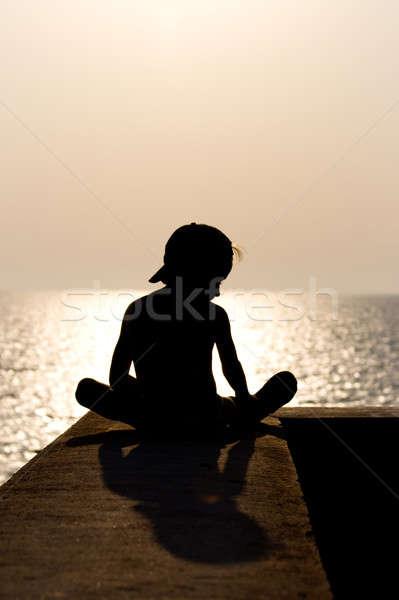 Silhouette Child Stock photo © All32