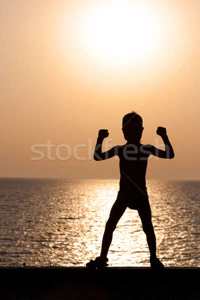 Silhouette of a child Stock photo © All32