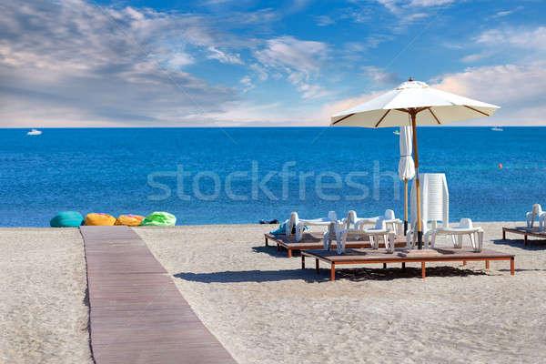 Plaj yaz kum sandalye Stok fotoğraf © All32