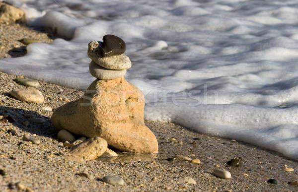 Pyramide cailloux plage résumé nature paysage Photo stock © All32
