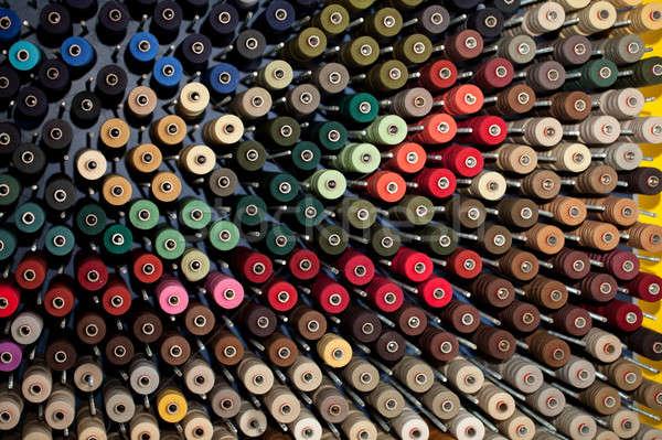Colorido fábrica máquina rosa coser algodón Foto stock © All32