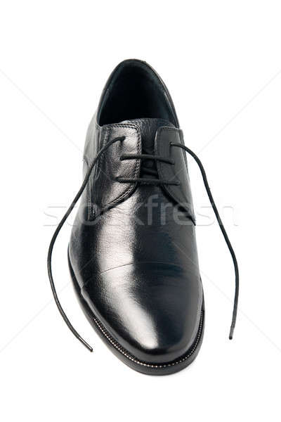 One man's shoes, with laces untied Stock photo © All32