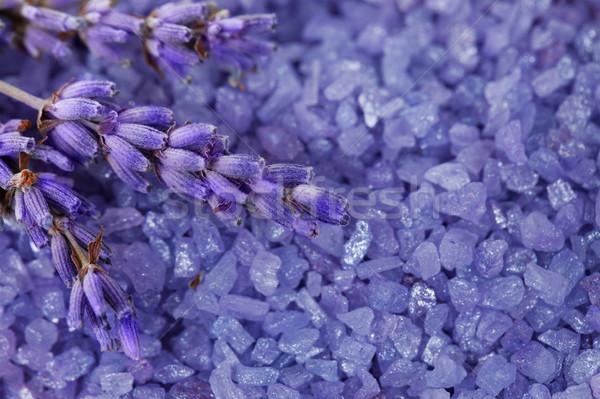 Lavendel bloemen zout bad bloem schoonheid Stockfoto © All32