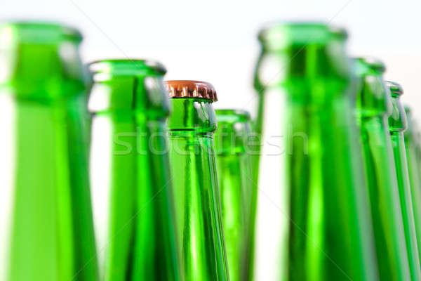 Boyun kapak açmak bira şişeler yalıtılmış Stok fotoğraf © All32