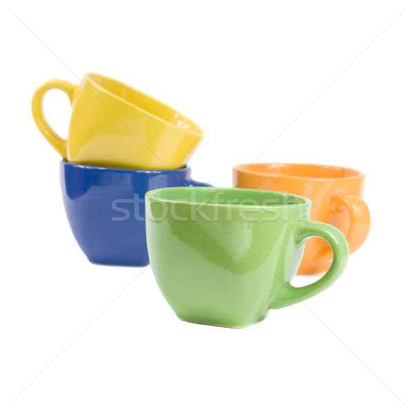 Gekleurd geïsoleerd witte koffie keuken Stockfoto © All32