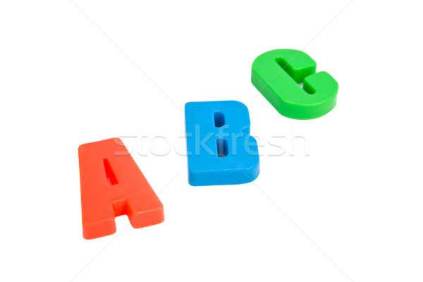Geïsoleerd witte school onderwijs groene Blauw Stockfoto © All32