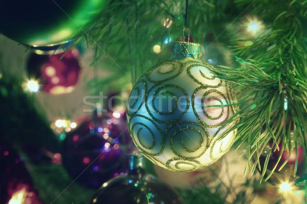 Noel süslemeleri dizayn arka plan Stok fotoğraf © All32