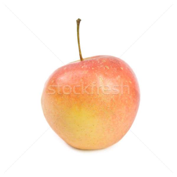 Kırmızı elma yalıtılmış beyaz gıda sevmek mutlu Stok fotoğraf © All32