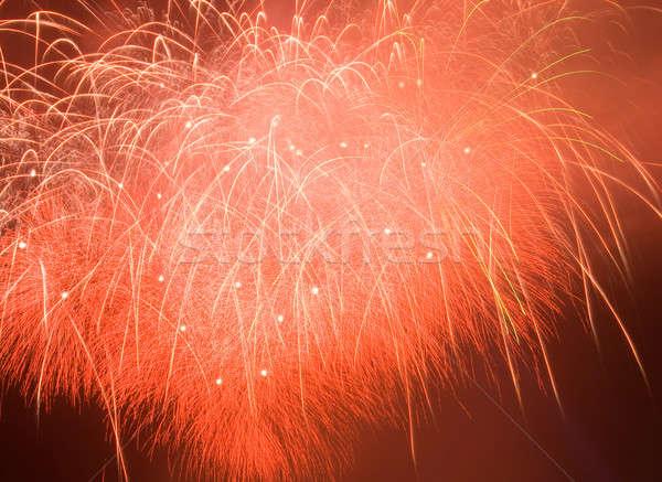 Tűzijáték absztrakt karácsony ünnep gyönyörű rakéta Stock fotó © All32