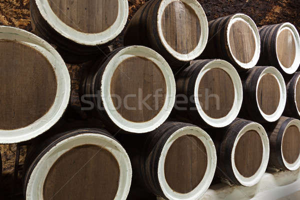 Velho carvalho adega vinho madeira beber Foto stock © All32