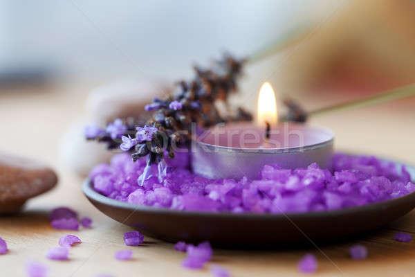 Vela pires sal lavanda estância termal natureza Foto stock © All32