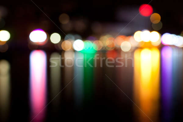Defocused lights in the city at night Stock photo © All32