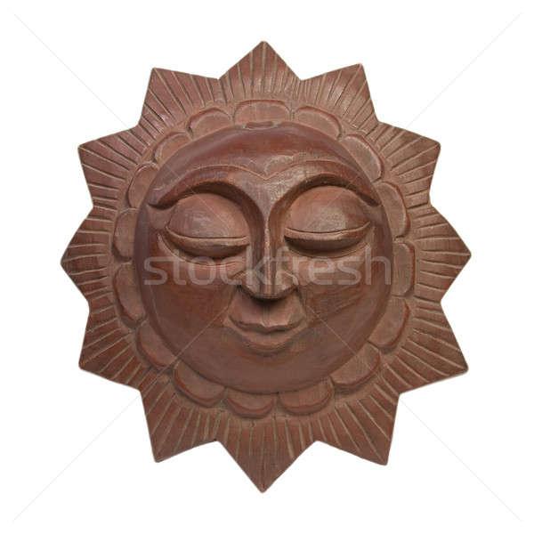 Decoratief zon textuur oog gelukkig ruimte Stockfoto © All32