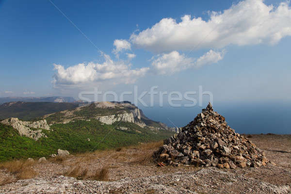 Cairn on a mountain top Stock photo © All32