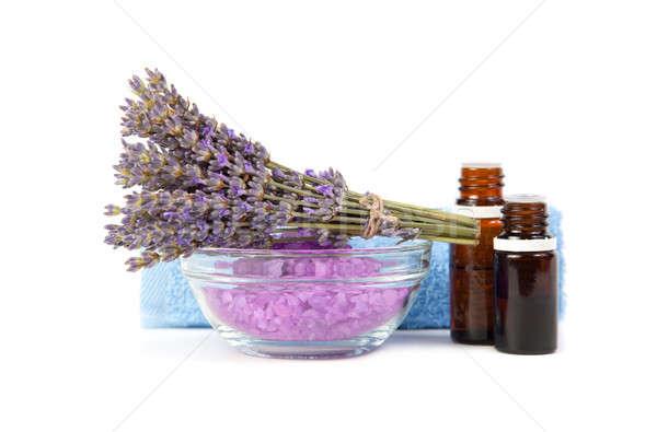 Spa onderdelen therapie lavendel aroma olieverf Stockfoto © All32