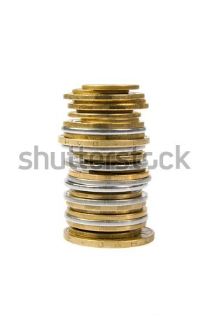 A pile of coins from the yellow and white metal. Stock photo © All32