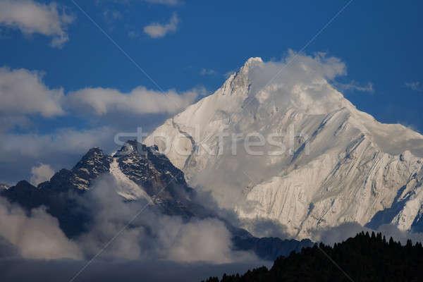 Montagnes tibet up nuages ciel arbre Photo stock © All32