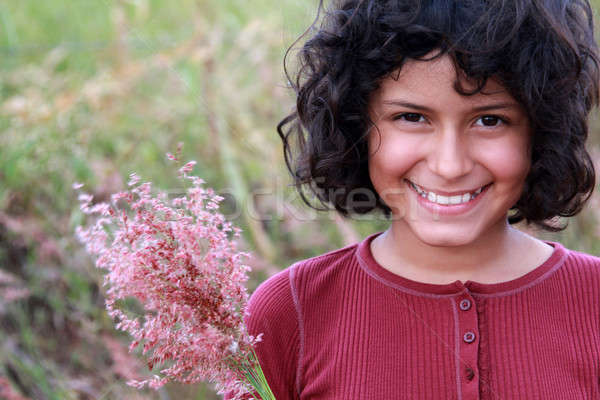 Pretty Latina Stock photo © allihays