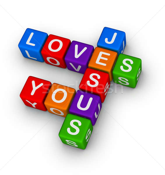 Jesus loves you Stock photo © almagami